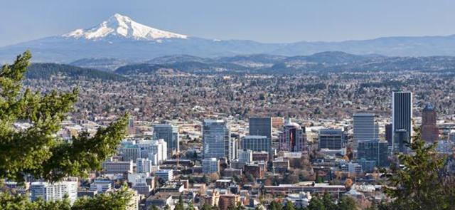Aerial photo of Portland