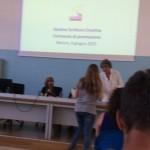 Alice Boscariol ritira il premio