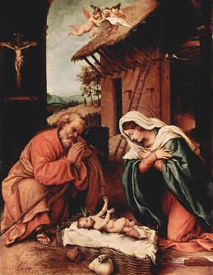Lorenzo Lotto, Natività, 1523.