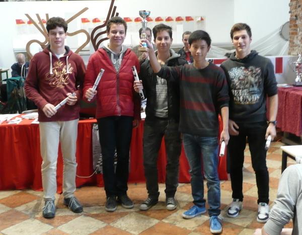 XIV European schools championship Winners