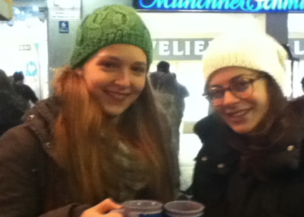 My host sister Carina and I, drinking Glühwein