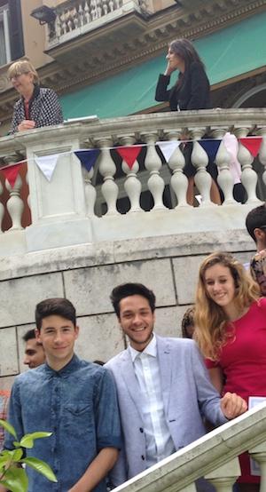 In alto da sinistra: G.Langé e L.Cinganotto